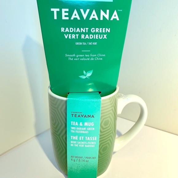 Starbuck Teavana Tea & Mug Gift Set - Green